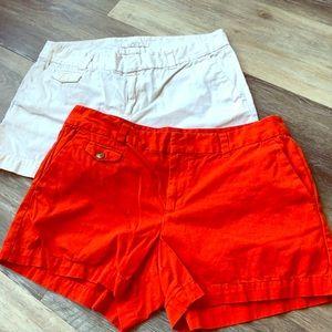 2 Pairs LOFT Chino Shorts size 6